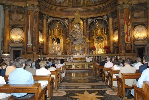 Santa Misa de acción de gracias en la capilla de la Virgen de la Basílica del Pilar
