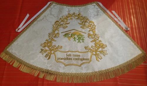 Manto de la Virgen con el emblema de las EFAs